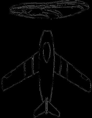 Вверху — схема крыла стрекозы